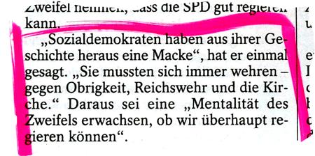 die Macke der SPD