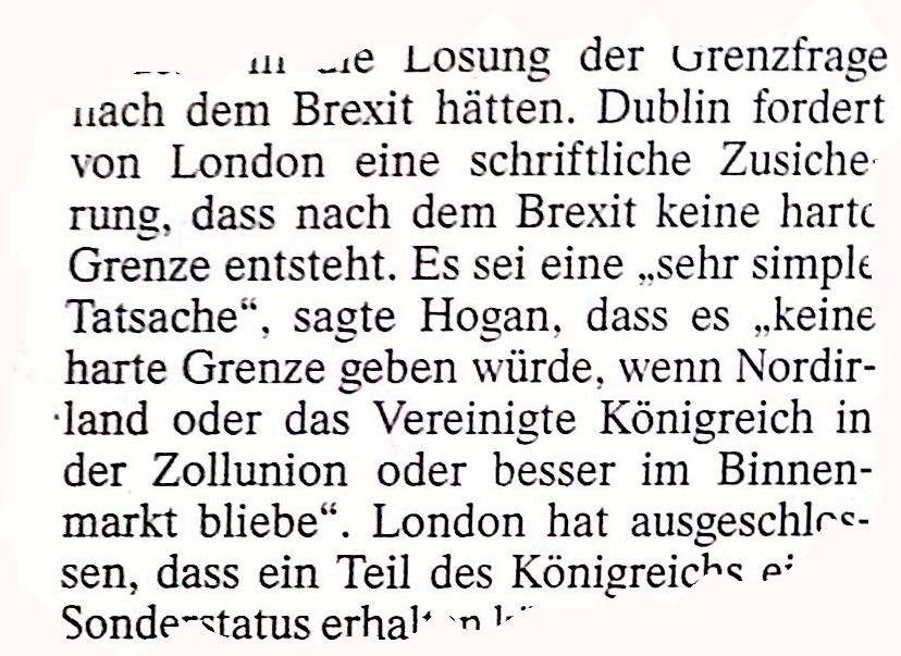 harte grenze, brexit