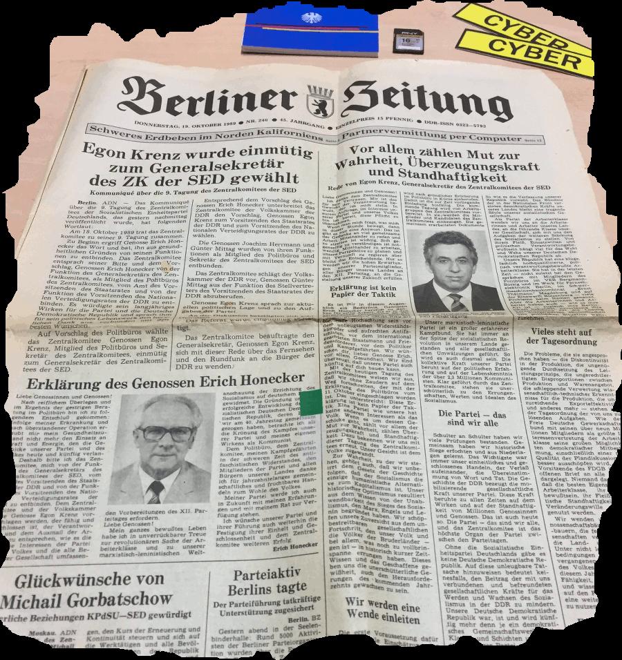 berliner zeitung oktober 1989