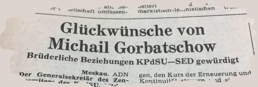 gorbatschow berliner zeitung